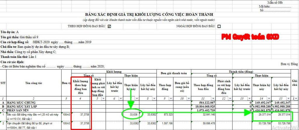 Biểu thanh toán giai đoạn theo PL08b NĐ số 11/2020/NĐ-CP