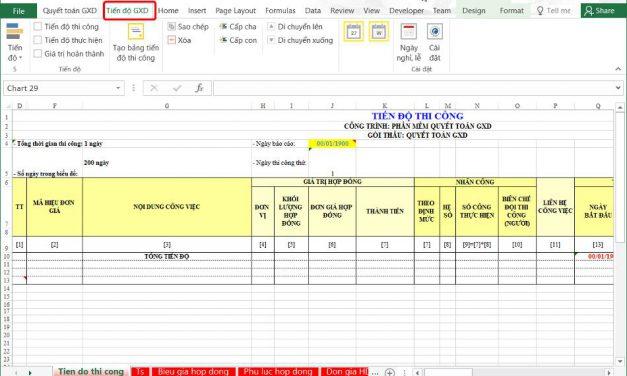 Phần mềm Quyết toán GXD có thêm Modul quản lý dự án theo phương pháp EVM